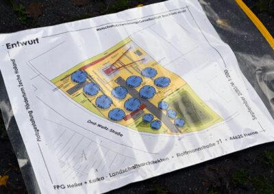 Platzgestaltung Förderturm Zeche Holland 21.10.2020 Foto: André Grabowski / Stadt Bochum, Referat für politische Gremien, Bürgerbeteiligung und Kommunikation